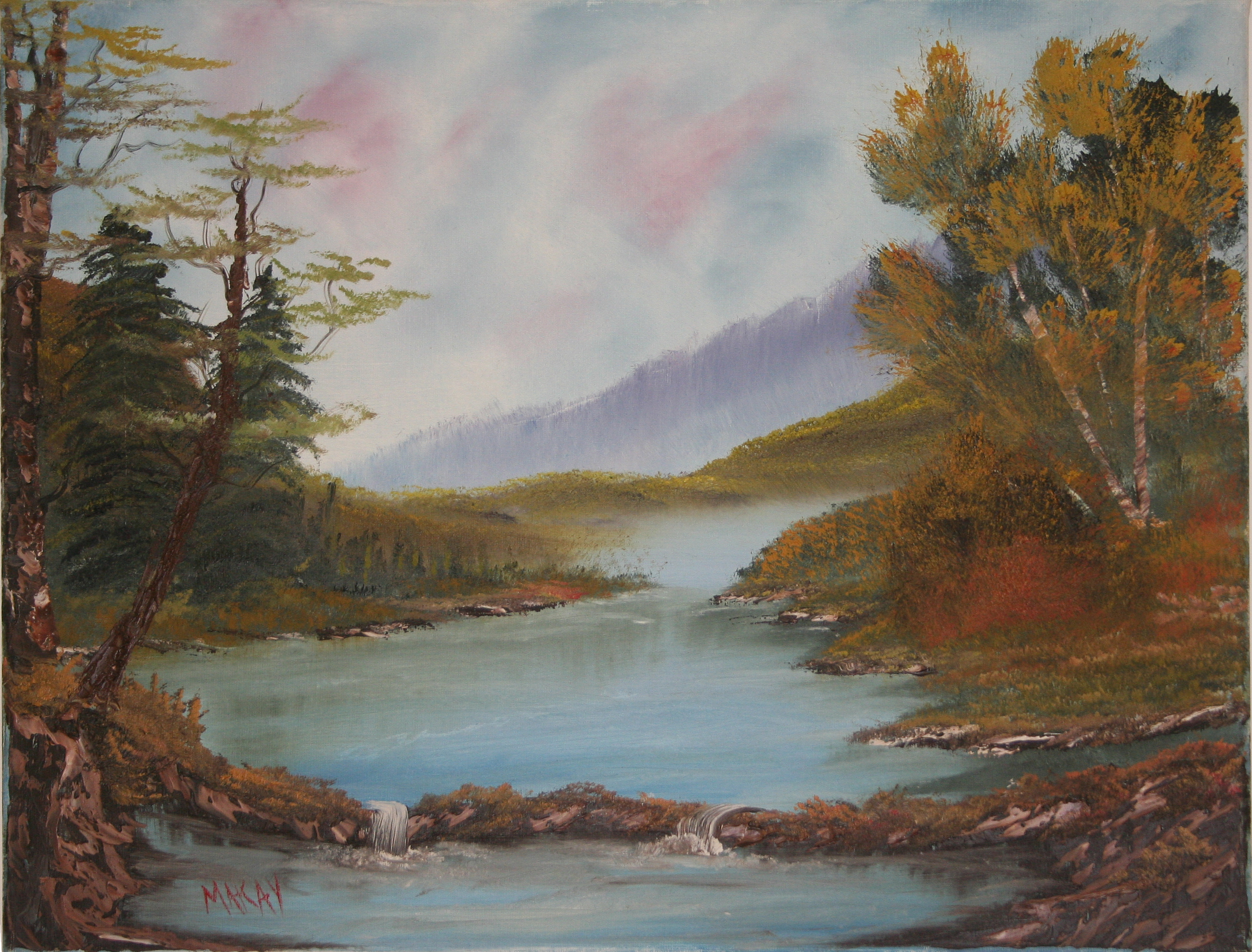 oil-Autumn Lake: Stage III Oils Course