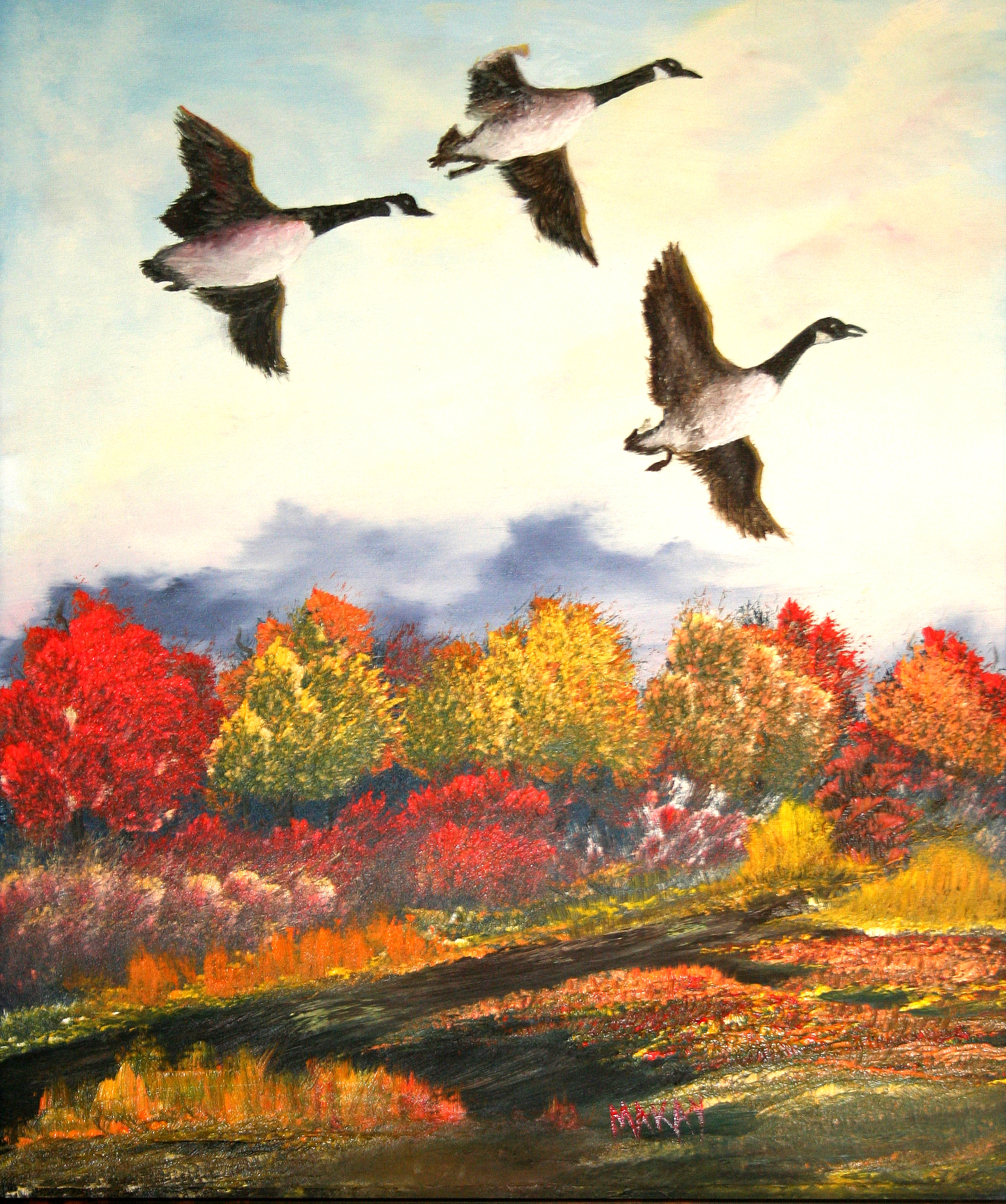 oil-Geese Flying Free: Stage III Oils Course