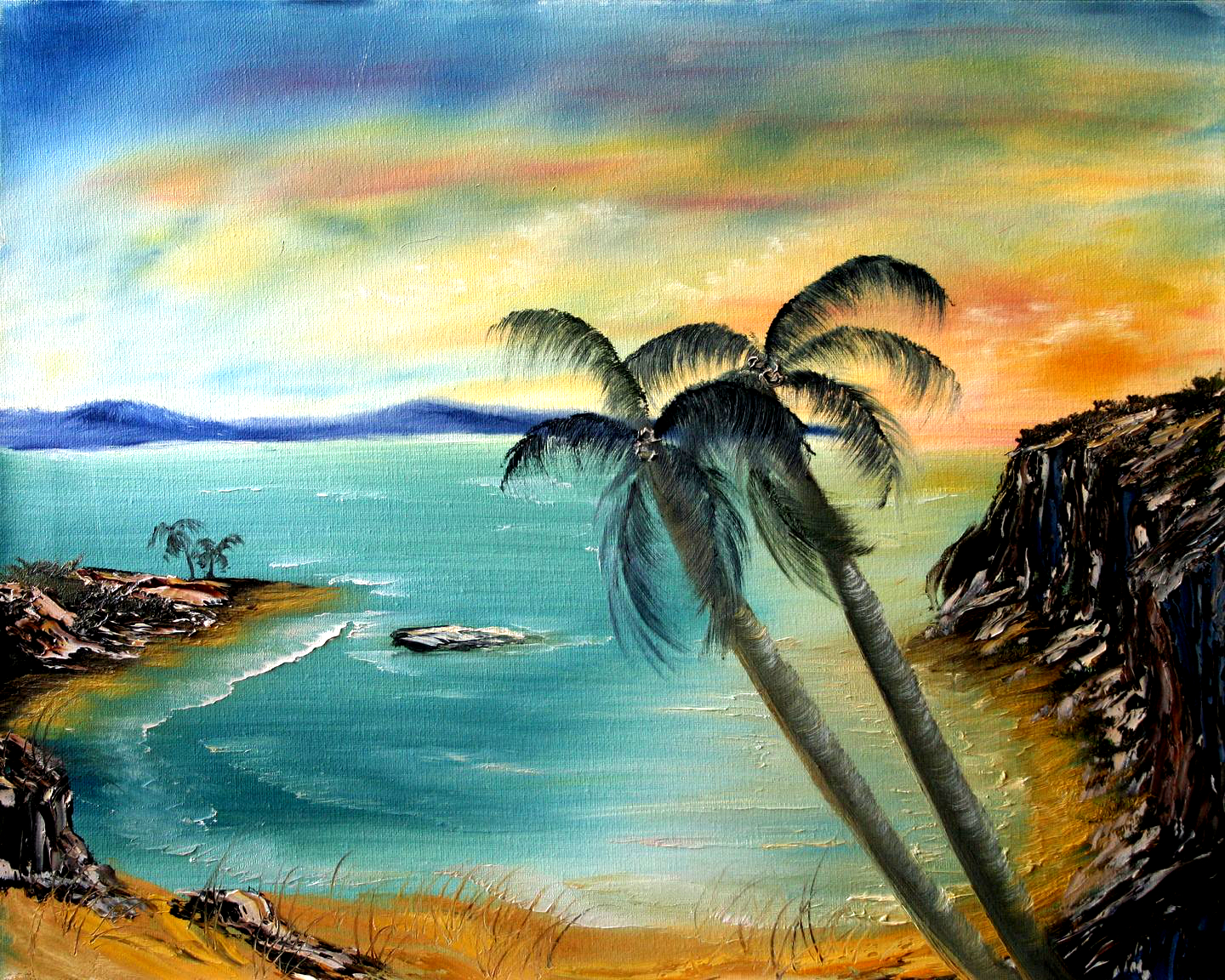 oil-Palms By The Bay: Stage III Oils Course