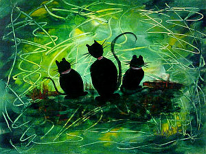 Cat World Painting