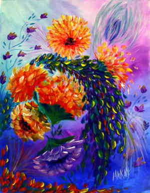 Floral Bright: Stage III (Workshop or Course Painting)