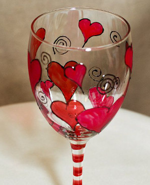 Hearts Glass Painting-Stage I