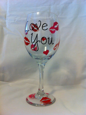 Kisses and Love Glass Painting: Stage II