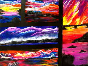 Spectacular Sunsets: Stage I (Painting Party Painting)