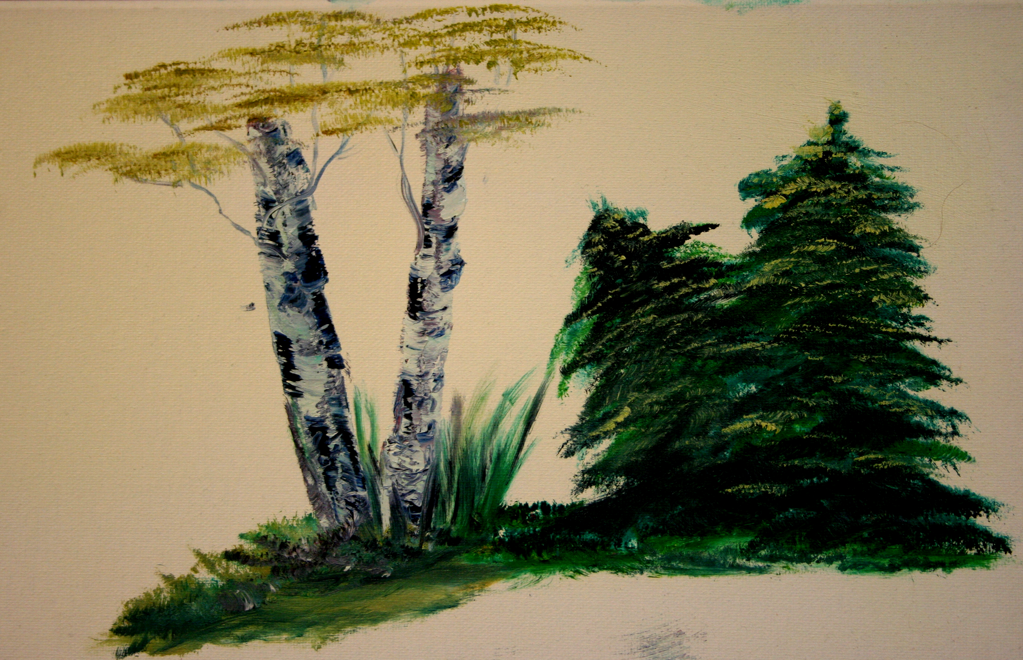 Oil Painting Practice Trees: Stage I