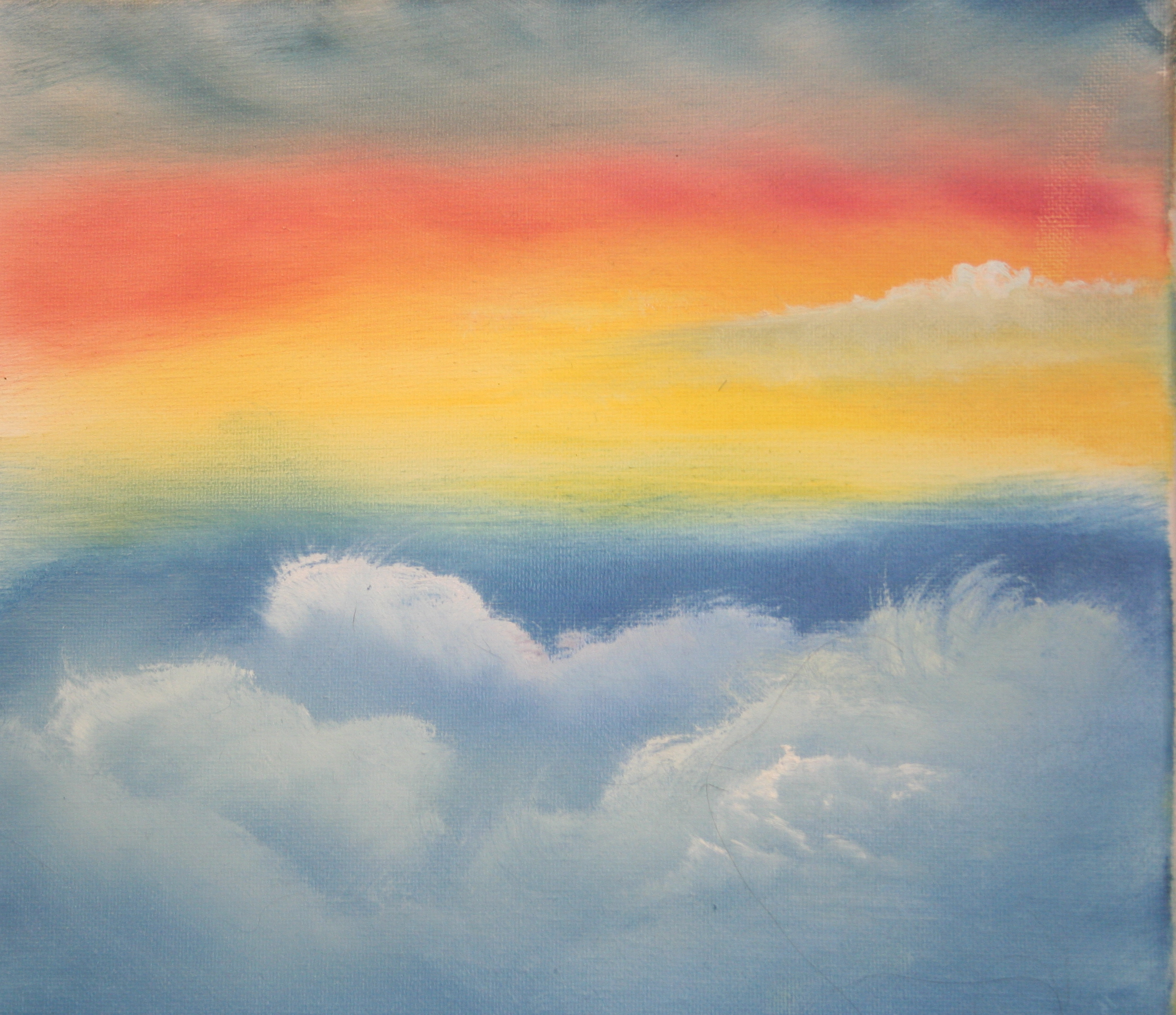 Oil Painting Practice Skies: Stage I