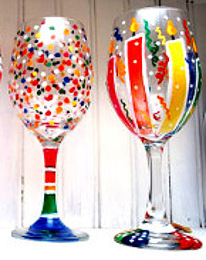 Party Glasses 2: Stage I (Great project for Family Paint and Craft-Good for Vases too!)