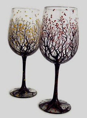 Vines and Blossoms Glass Painting: Stage I