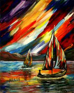 A Sailing Prism: Stage I (Painting Party Painitng)