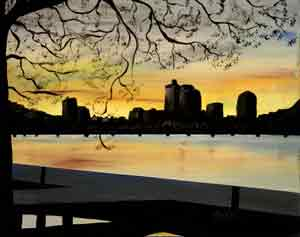 Charles River at Dusk: Stage I