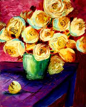 A Perfect Rose Bouquet: Stage II (Workshop or Course Painting)