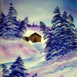 2--Purple-Winter-Cabin
