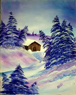 Purple Winter Cabin: Stage II