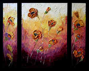 Perfectly Poised Poppies: Stage III Texture Paint Workshop
