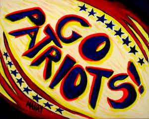 Acrylic-Go Patriots!: Stage I for Painting Parties