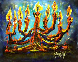 Old Abstract Menorah/Candelabar: Stage III
