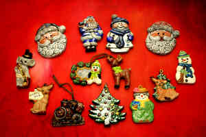Ceramic Ornaments (Designs Vary): Stage I