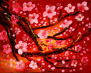 Cherry Blossom Wonder (Abstract): Stage II