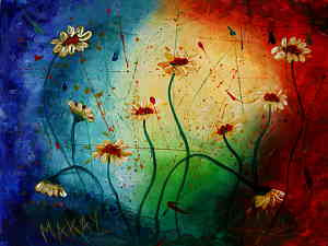 I Paint Today Vibrant Daisies