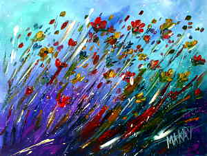 Windy Wild Flowers: Stage I (Painitng Party Painting)