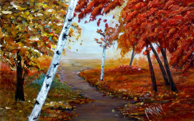 Acrylic Landscape Painting Course for Adults
