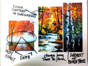 How to create an original composition in a new painting in merrimack valley MA