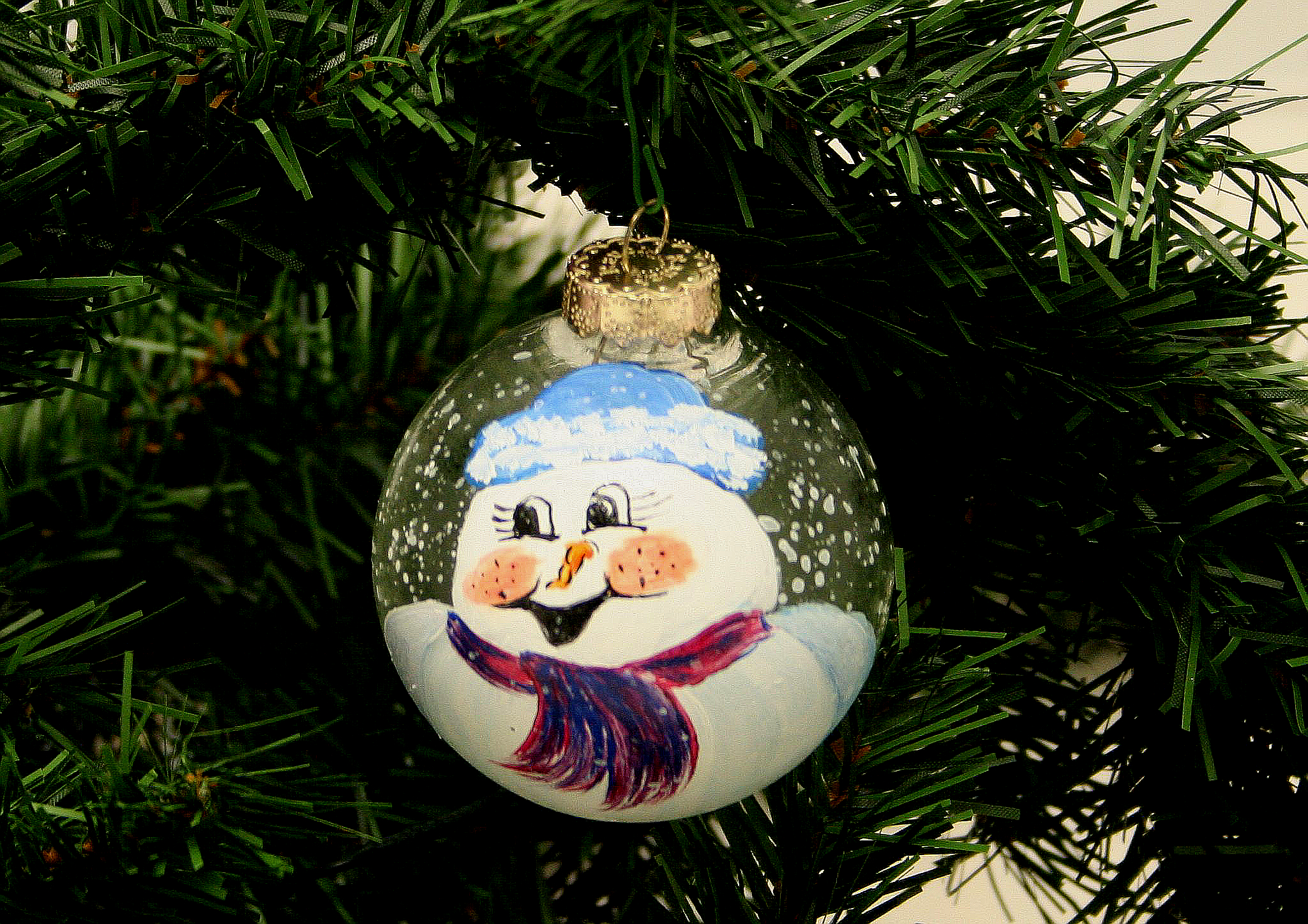 Painted Snowman Ornament: Stage I