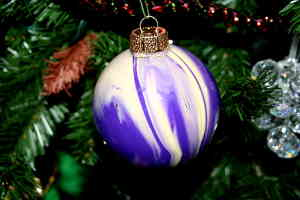 Swirl Painted Ornament: Stage I