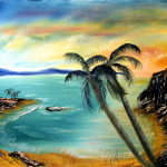 Palms by the Bay- Adult Oil Painting Course