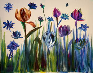 Bold Tulips: Stage II (Easy way to learn flower petal structure)