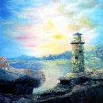 Old Fantasy Lighthouse- oil