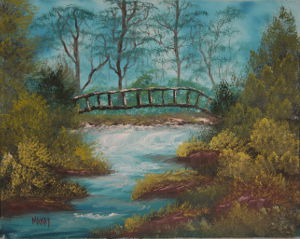 oil-Old Tattered Bridge: Stage III Oils Course