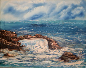 oil- Beautiful New England Ocean: Stage I Oils Course