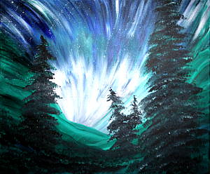 Fabulous Fan of Northern Lights: Stage II (Painting Party Painting)