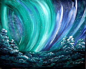 Northern Lgiht Spectacular: Stage I (Painting Party Painting)