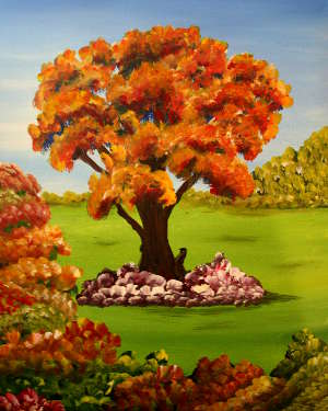 Beauty of Fall: Stage I (Great Painting for small or very large Painting Parties)